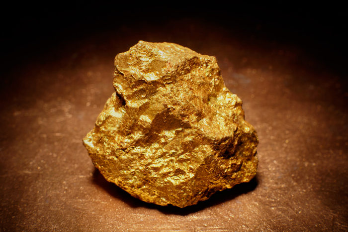 Gold Nugget from the mine